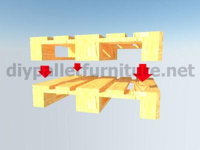 Mobili da giardino kit un tavolo con un solo Europalet 3