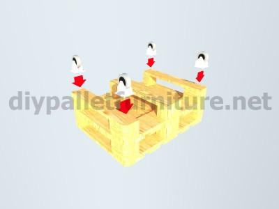 Mobili da giardino kit un tavolo con un solo Europalet 4