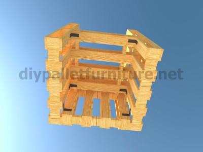 Piani e istruzioni per fare una poltrona con 4 pallet 11