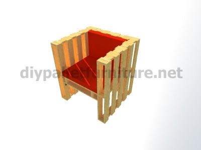 Piani e istruzioni per fare una poltrona con 4 pallet 12