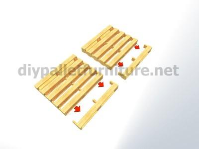 Piani e istruzioni per fare una poltrona con 4 pallet 3