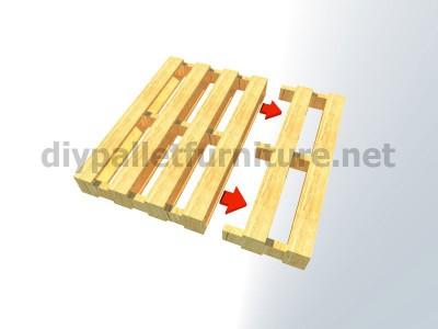 Piani e istruzioni per fare una poltrona con 4 pallet 4