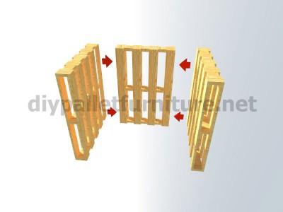 Piani e istruzioni per fare una poltrona con 4 pallet 5