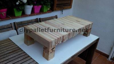 Tavolo per il vostro salotto fatta di assi di pallet smantellati 3