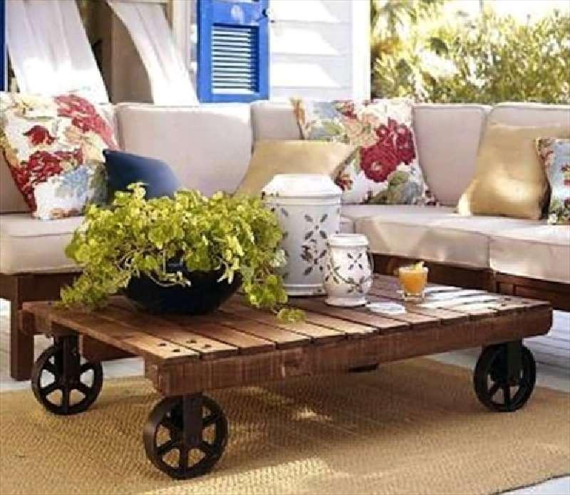 Amato Come aggiungere le ruote a una singola tavoli palletMobili con  CH09