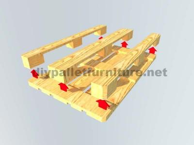 Come fare facilmente un tavolo con un Europallet 6