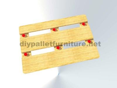 Come fare facilmente un tavolo con un Europallet 7