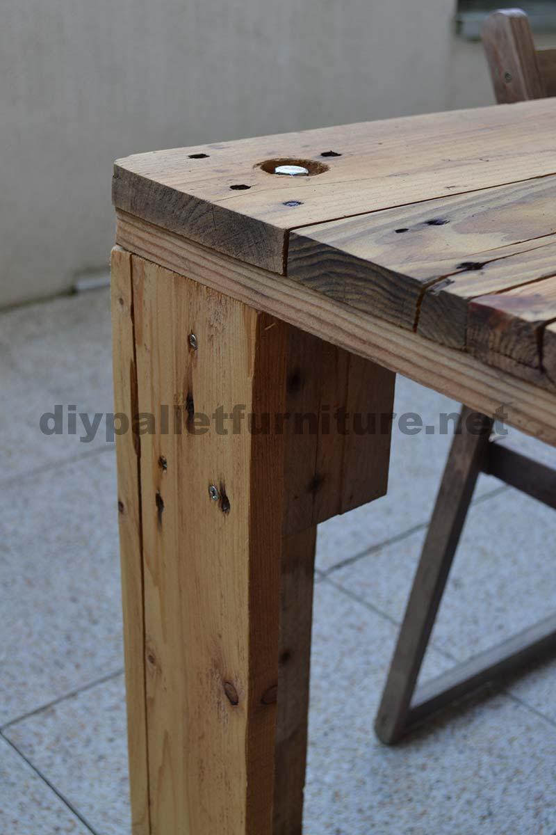 Come fare facilmente un tavolo con un europalletmobili con - Costruire un tavolo allungabile ...