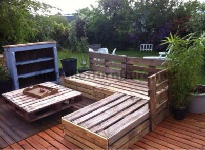 Garden Lounge realizzato con pallet 4