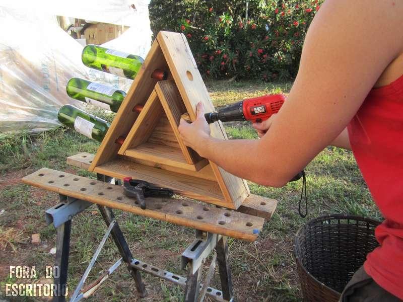 Guida passo passo per fare un portabottiglie triangolare - Portabottiglie in legno fai da te ...