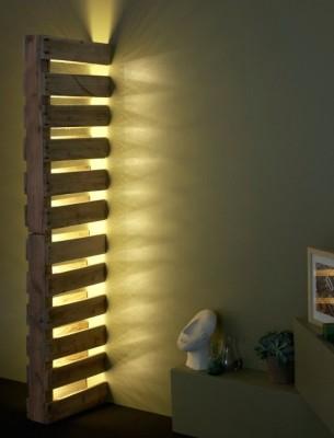Illuminazione da incasso a parete con un unico pallet