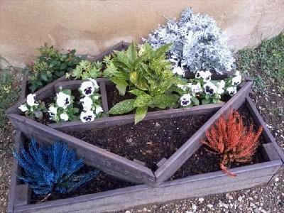 Le istruzioni su come fare una fioriera con forme geometriche