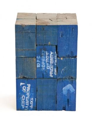 Sgabelli realizzati con blocchi di legno di pallet 2