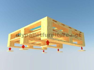 Le istruzioni su come fare un elegante tavolo con pallet 4