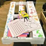Costruire una tabella personalizzata con i pallet per i vostri bambini