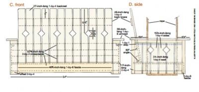 I piani e le istruzioni per costruire una panca appeso con pallet3