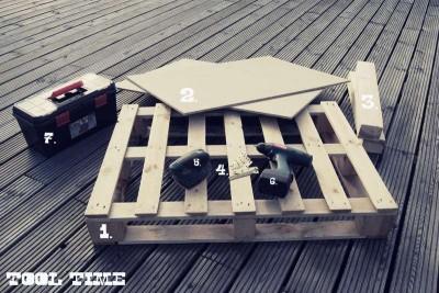 Come costruire un tavolo giovanile per il soggiorno con un pallet2