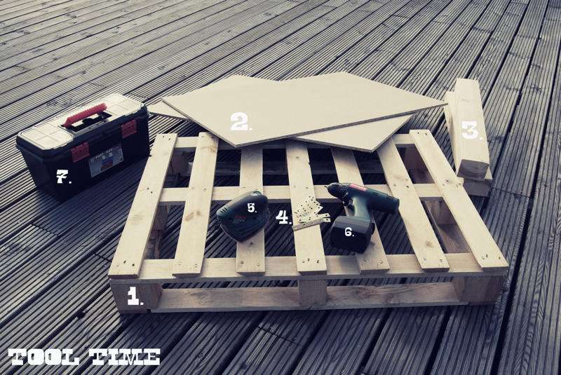 Come costruire un tavolo giovanile per il soggiorno con un palletmobili con pallet mobili con - Costruire tavolo con pallet ...