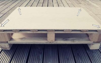Come costruire un tavolo giovanile per il soggiorno con un pallet3
