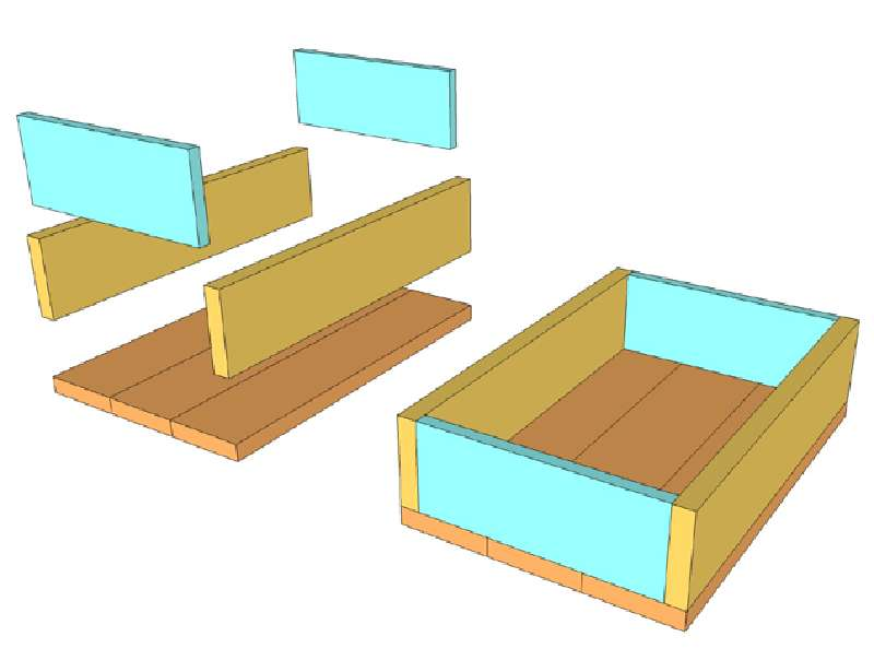 Favorito Costruire e decorare una scatola di pallet con francobolliMobili  RQ35