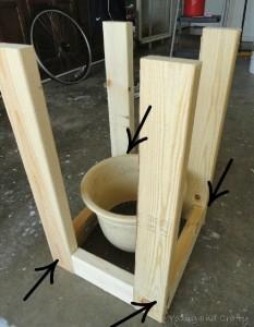 Costruire una fioriera mobile con pallet 2