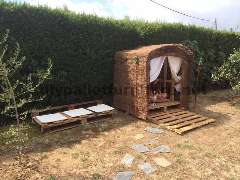 Piccola casetta per il giardino realizzato con for Piani di cabina e cottage