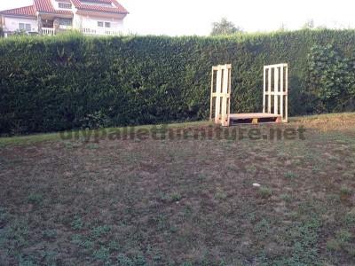 Piccola casetta per il giardino realizzato con pallet1