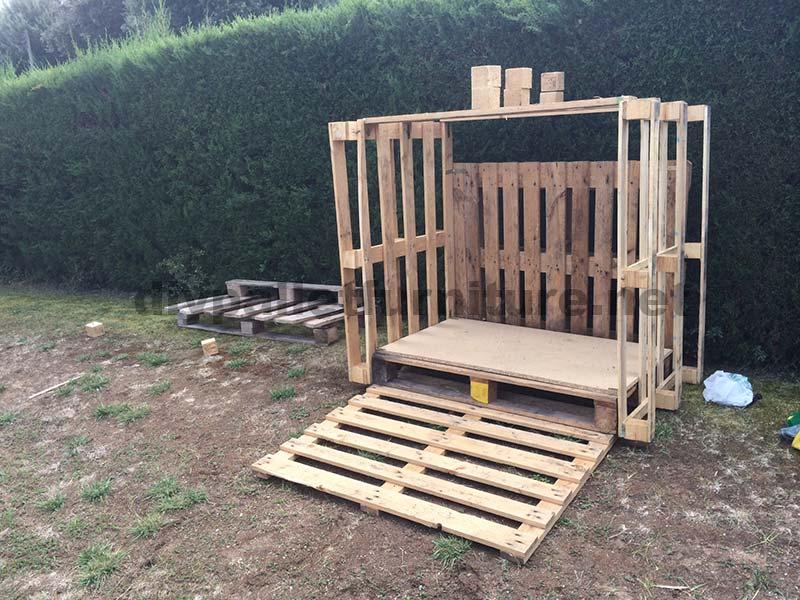 Très Piccola casetta per il giardino realizzato con palletMobili con  VD14