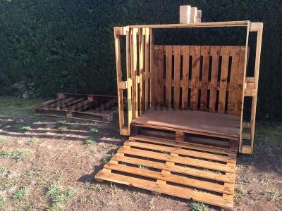 Piccola casetta per il giardino realizzato con pallet3