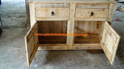 Credenza Fatta Con I Pallet : Rustic pallet tv stand cabinet sideboard reclaimed etsy