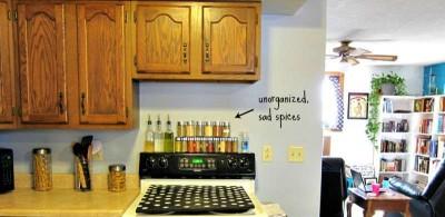 costruire uno scaffale per le specie da cucina