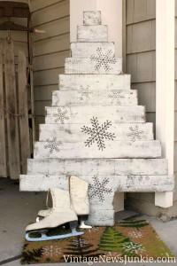12 idee per la progettazione di un albero di Natale con i pallet02