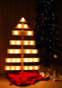 12 idee per la progettazione di un albero di Natale con i pallet1