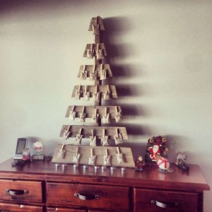 12 idee per la progettazione di un albero di Natale con i pallet11