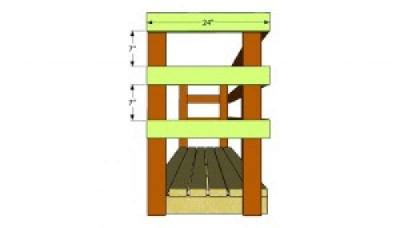 Costruire un capannone di pallet  per il legno4