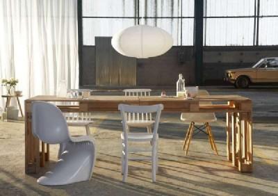 Costruire Tavoli Con Pallet : Costruire un grande tavolo con soli 4 palletmobili con pallet