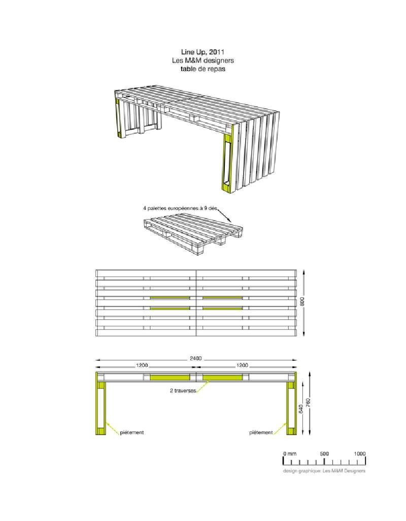 Costruire un grande tavolo con soli 4 palletmobili con for Costruire un tavolo richiudibile