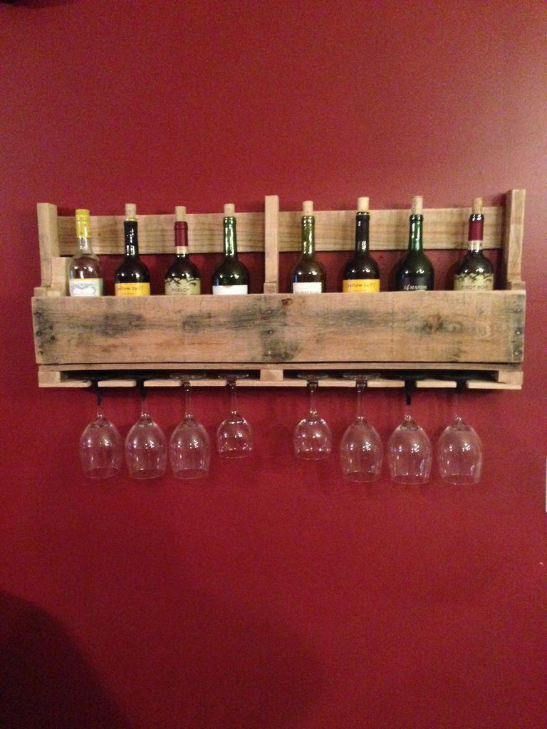 Costruire un portabottiglie vino fatto di pallet per il muroMobili con Pallet  Mobili con Pallet