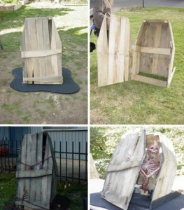 Decora il tuo giardino su Halloween con un cimitero fatta di pallet 1
