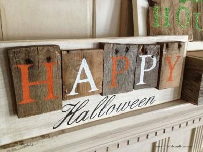Decora il tuo giardino su Halloween con un cimitero fatta di pallet 7