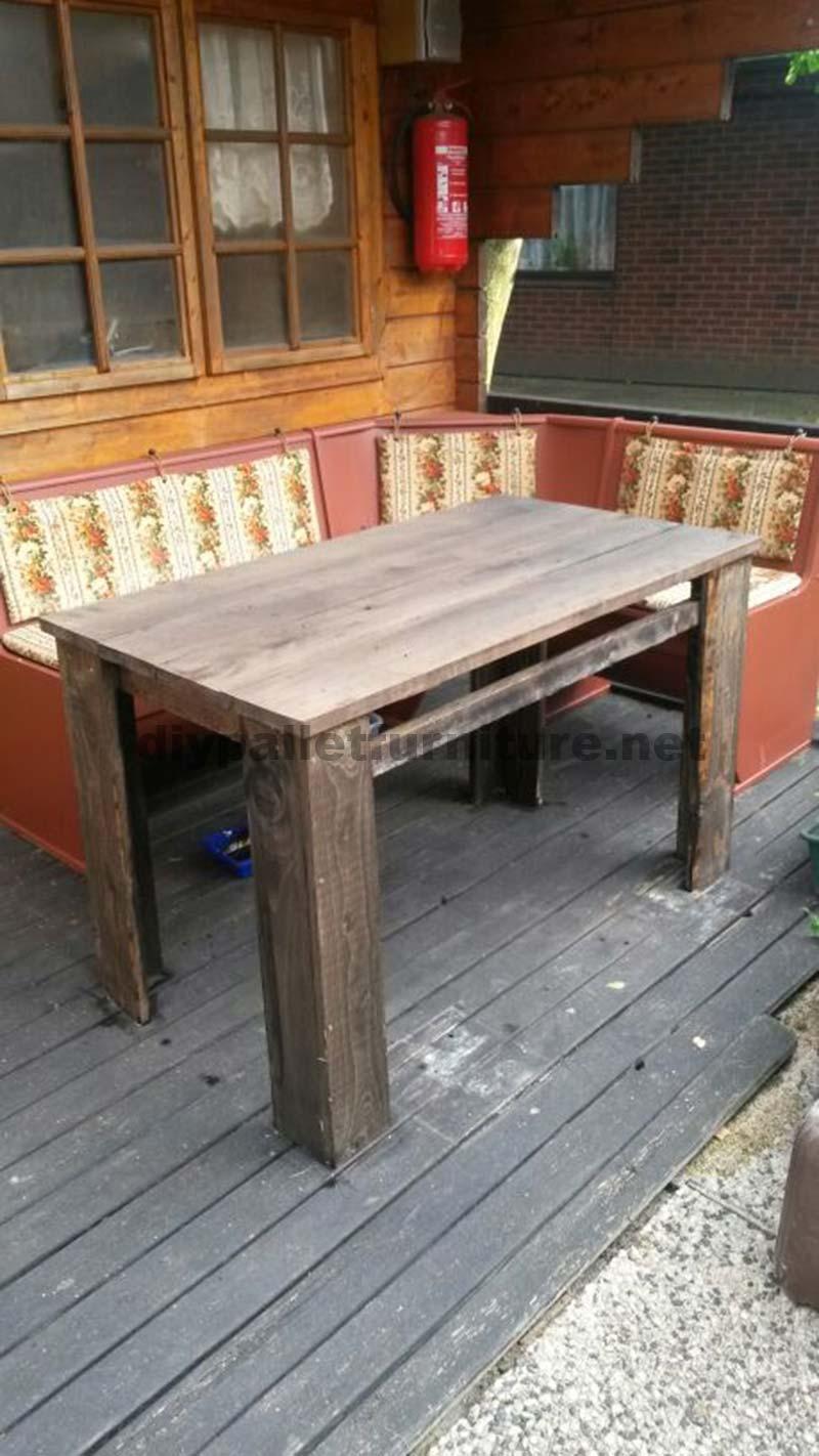 I piani per fare un tavolo con tavole pallet mobili con pallet mobili con pallet - Mobili con i pallet ...