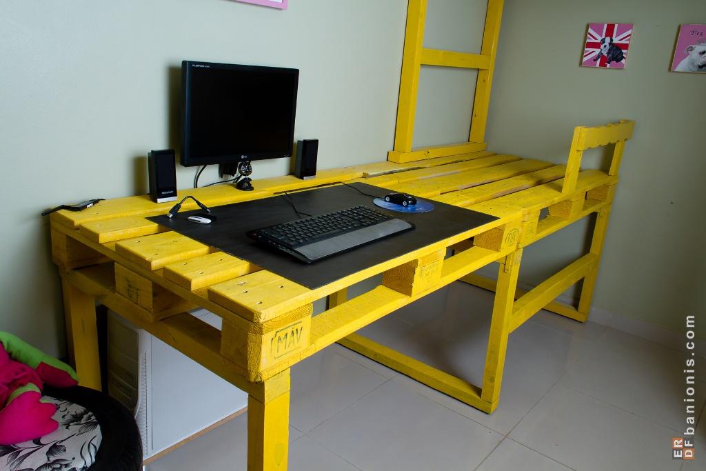 ottenere spazio nella vostra camera con questa soluzione letto a soppalco con palletmobili con. Black Bedroom Furniture Sets. Home Design Ideas
