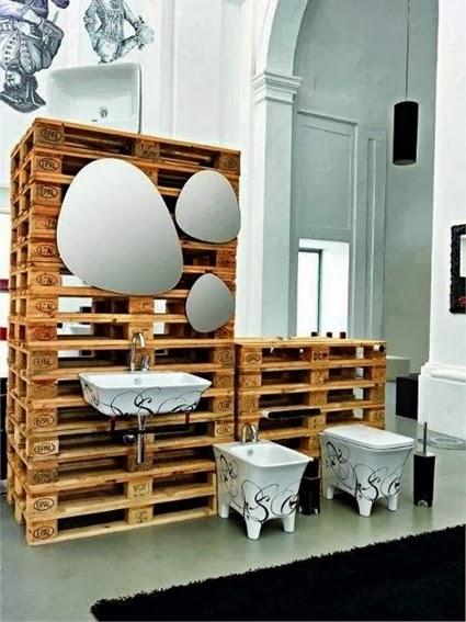 Decoracion De Baño Reciclable:Bathroom Pallet Furniture Ideas