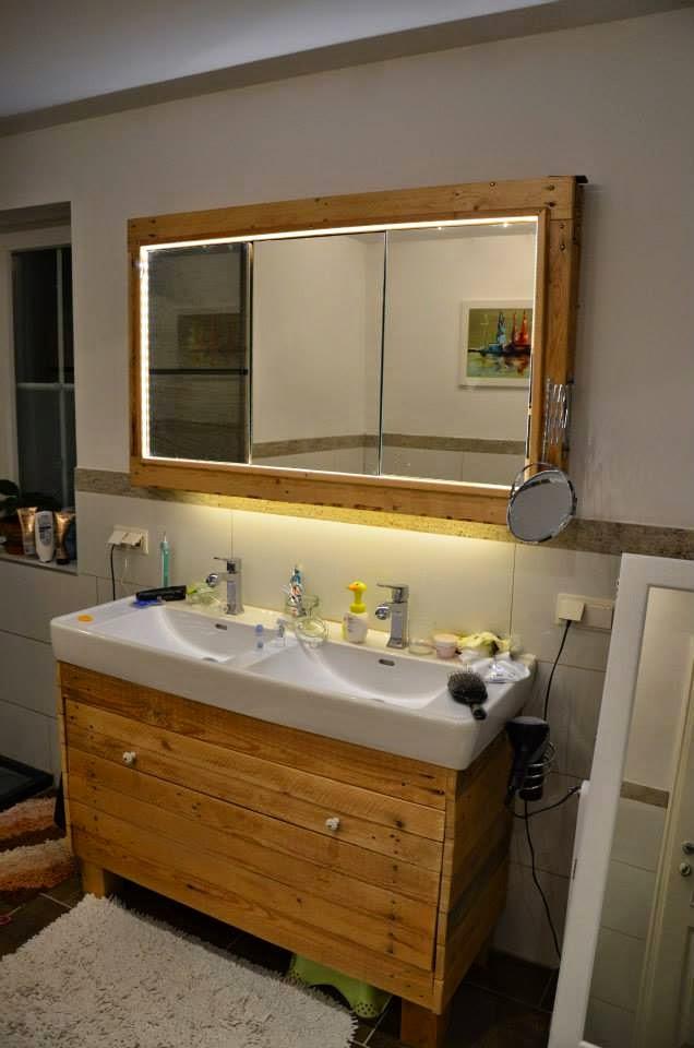 10 grandi idee per decorare la vostra stanza da bagno con - Ideas para reciclar palets ...