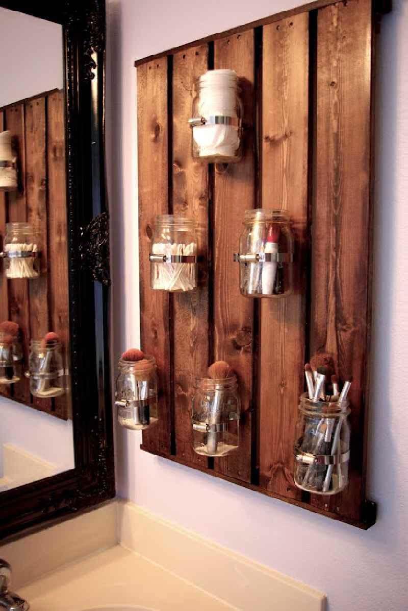 10 grandi idee per decorare la vostra stanza da bagno con palletmobili con pallet mobili con - Mobili grezzi da decorare ...