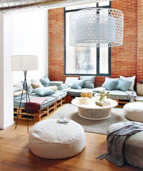 10 magnifici saloni decorati con palletmobili con pallet for Appartamento stile newyorkese
