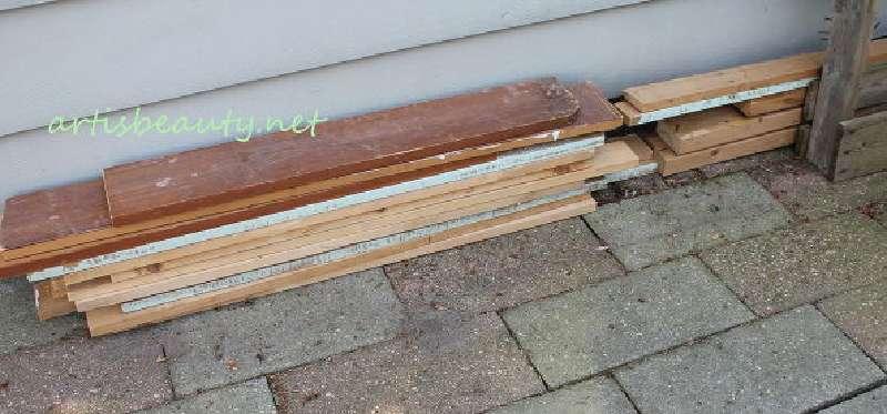 Come costruire un tavolino d epoca per il giardino con for Come costruire un telaio a buon mercato