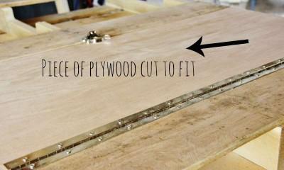 Come costruire un tavolo pieghevole-rack, passo dopo passo6