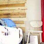 Balcone coperto di palletmobili con pallet mobili con pallet - Costruire testata letto ...