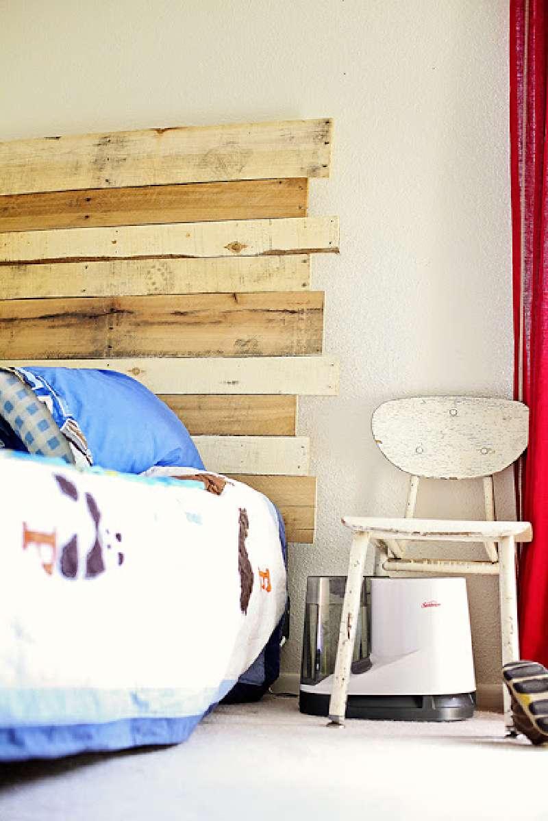 costruire una testata pallet per un letto per bambiniMobili con Pallet ...